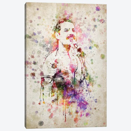 Freddie Mercury Canvas Print #ADP3189} by Aged Pixel Canvas Art