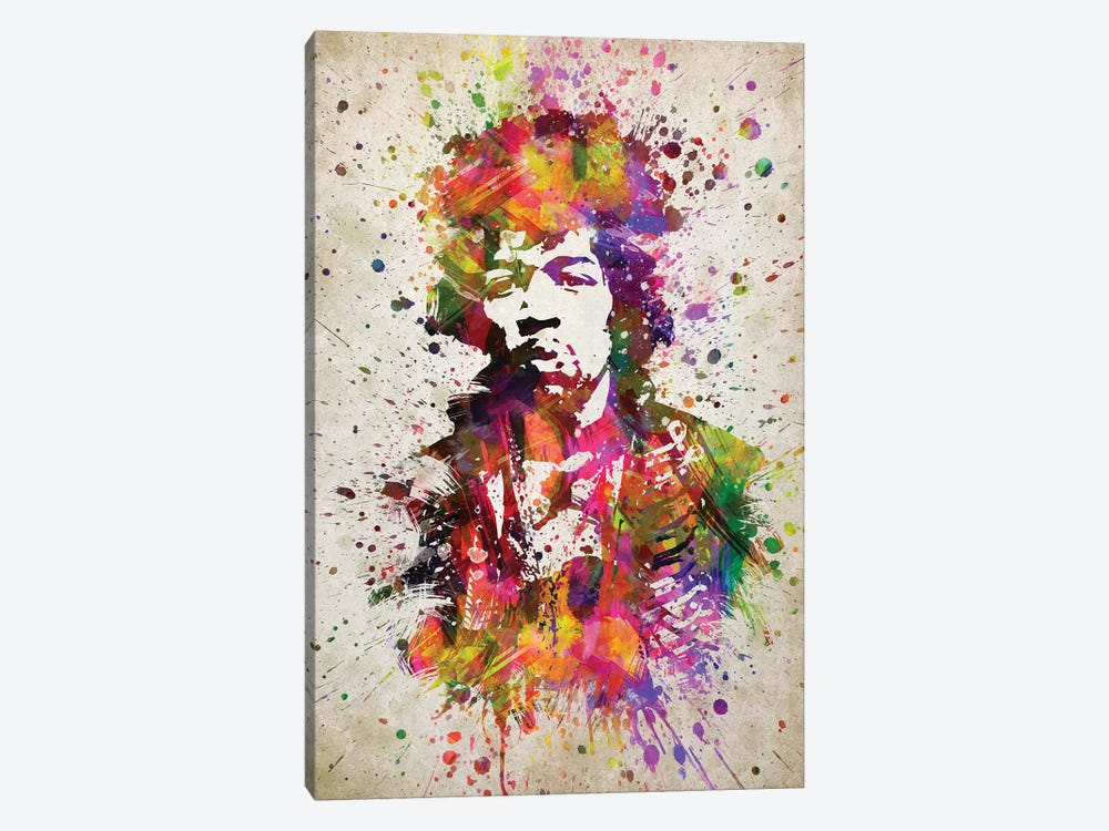 Jimi Hendrix II by Aged Pixel 1-piece Canvas Print