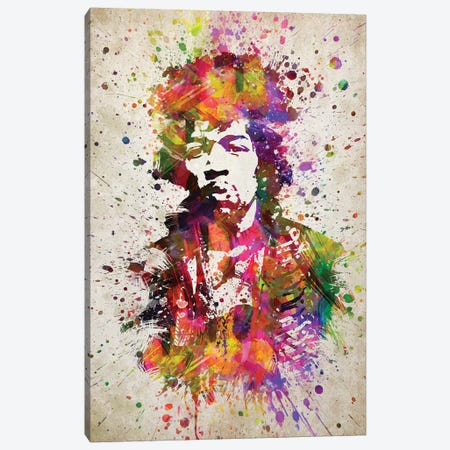 Jimi Hendrix II Canvas Print #ADP3195} by Aged Pixel Canvas Wall Art