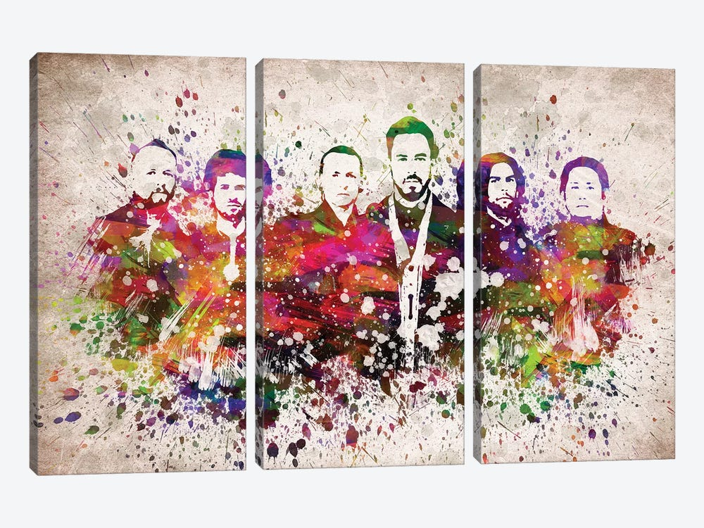 Linkin Park by Aged Pixel 3-piece Canvas Print