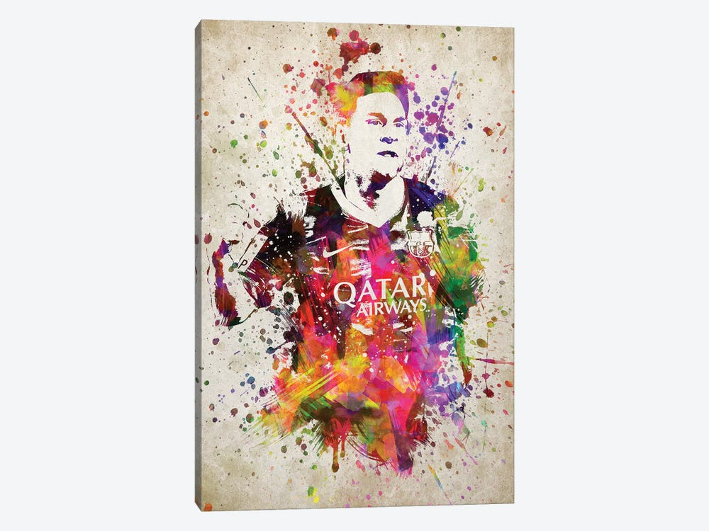 Lionel Messi by Aged Pixel 1-piece Canvas Artwork