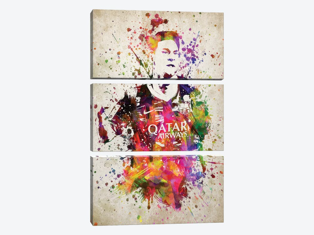 Lionel Messi by Aged Pixel 3-piece Canvas Artwork