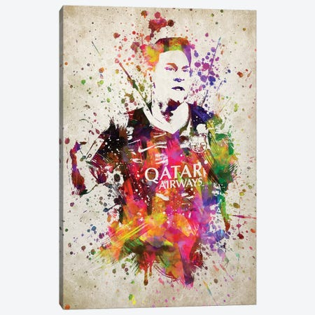 Lionel Messi Canvas Print #ADP3198} by Aged Pixel Canvas Print