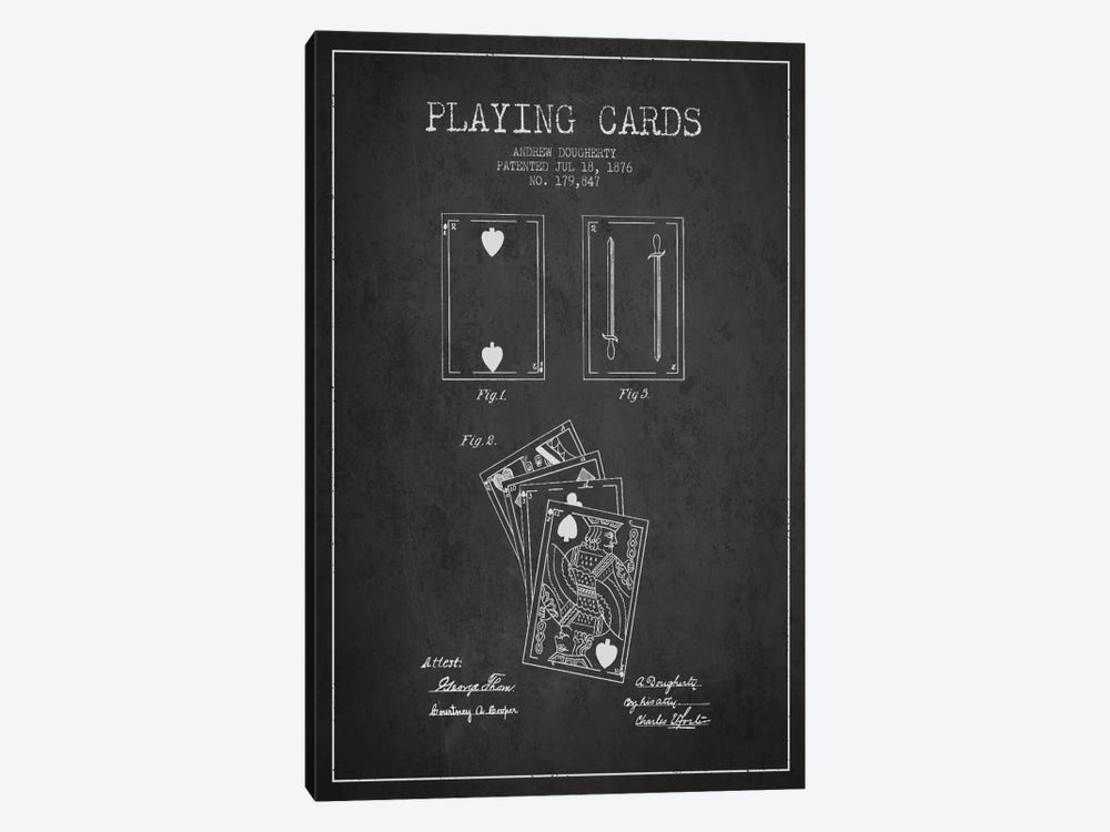 Dougherty Cards Dark Patent Blueprint by Aged Pixel 1-piece Art Print