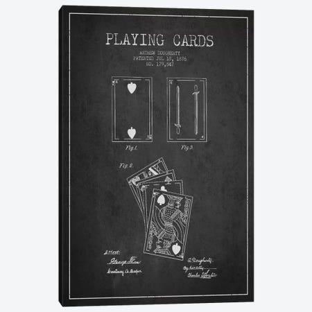Dougherty Cards Dark Patent Blueprint Canvas Print #ADP31} by Aged Pixel Canvas Art Print