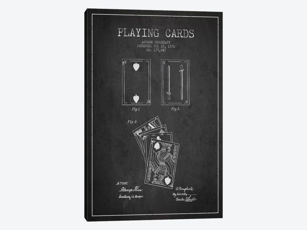Dougherty Cards Dark Patent Blueprint by Aged Pixel 1-piece Art Print