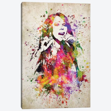 Mariah Carey Canvas Print #ADP3200} by Aged Pixel Canvas Art Print