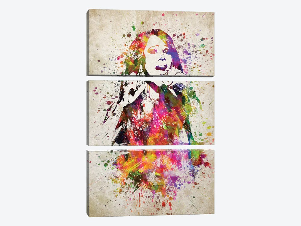 Mariah Carey by Aged Pixel 3-piece Canvas Print