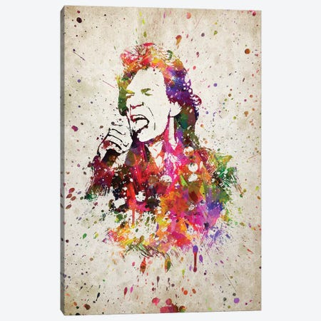 Mick Jagger Canvas Print #ADP3203} by Aged Pixel Canvas Art Print