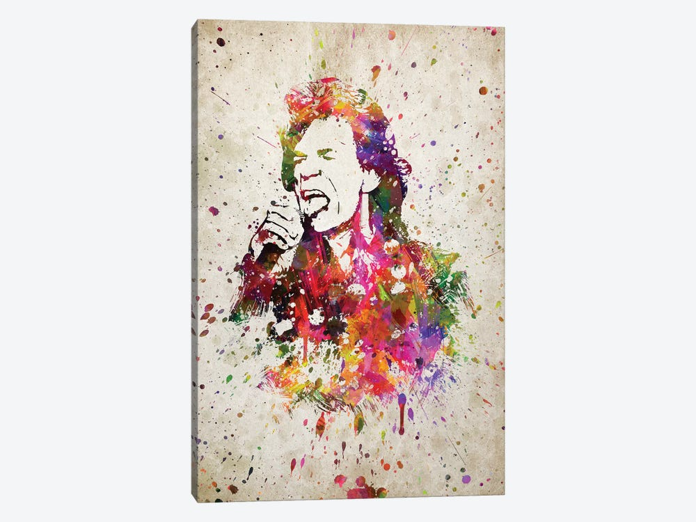 Mick Jagger by Aged Pixel 1-piece Canvas Art