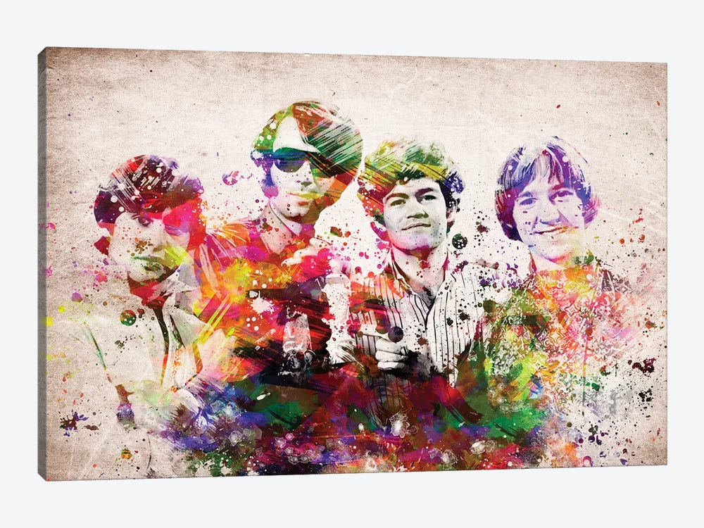 Monkees by Aged Pixel 1-piece Canvas Wall Art