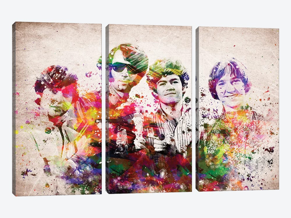 Monkees by Aged Pixel 3-piece Canvas Artwork