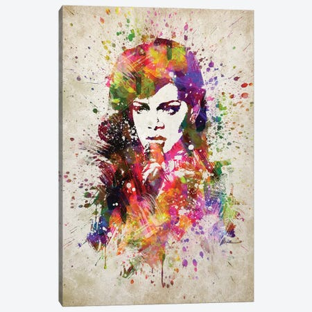 Rihanna Canvas Print #ADP3208} by Aged Pixel Canvas Art Print