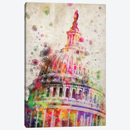United State's Capitol Dome Canvas Print #ADP3212} by Aged Pixel Canvas Art