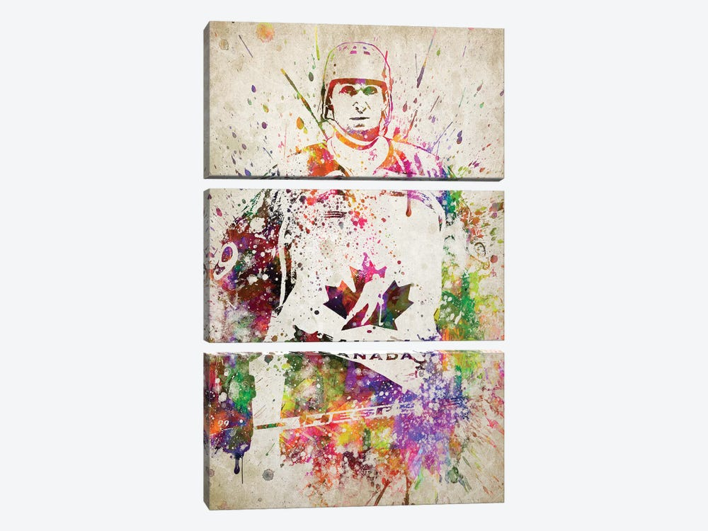 Wayne Gretzky by Aged Pixel 3-piece Canvas Print