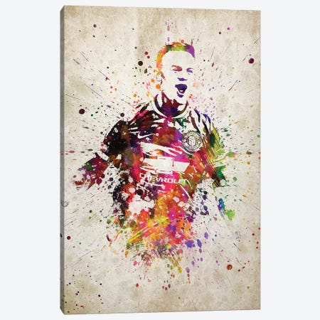 Wayne Rooney Canvas Print #ADP3214} by Aged Pixel Art Print
