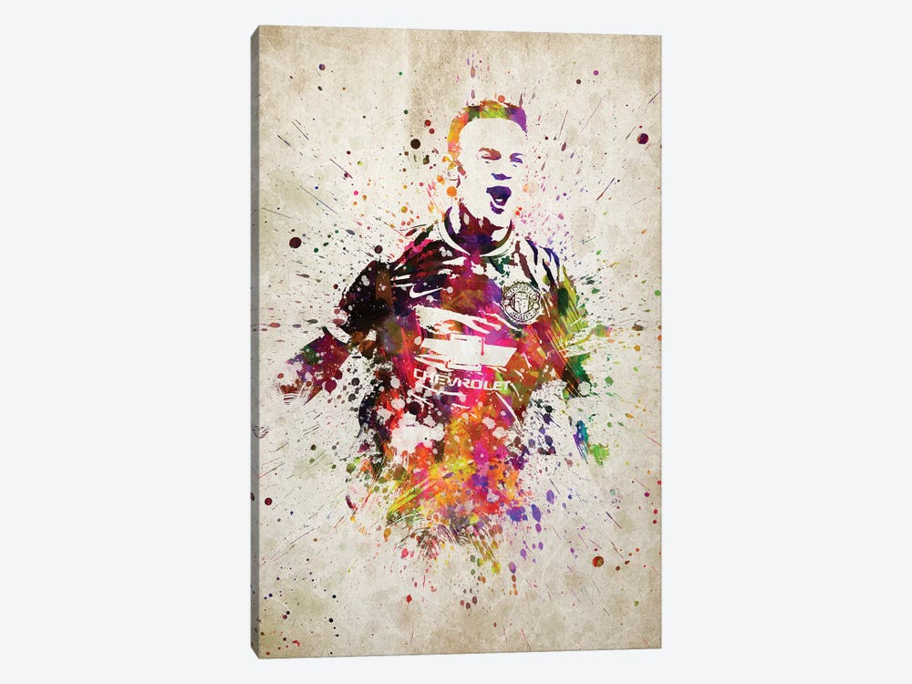 Wayne Rooney by Aged Pixel 1-piece Canvas Wall Art