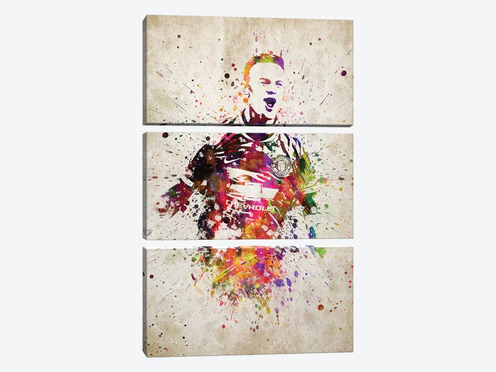 Wayne Rooney by Aged Pixel 3-piece Canvas Artwork