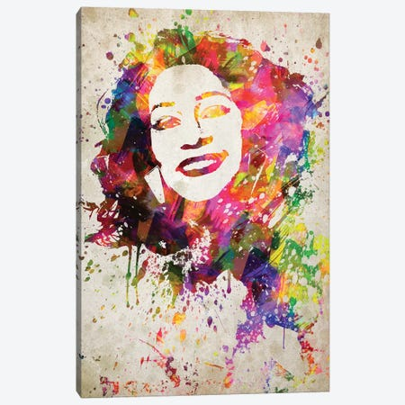 Whitney Houston Canvas Print #ADP3215} by Aged Pixel Canvas Print