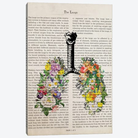 The Lungs With Flowers Canvas Print #ADP3221} by Aged Pixel Canvas Print