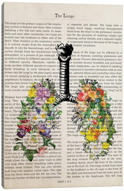 The Lungs With Flowers Canvas Art Print