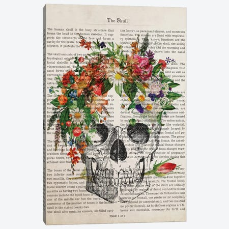 The Skull Canvas Print #ADP3224} by Aged Pixel Canvas Artwork