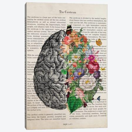 Brain Art Flower Anatomy Print Canvas Print #ADP3226} by Aged Pixel Canvas Artwork