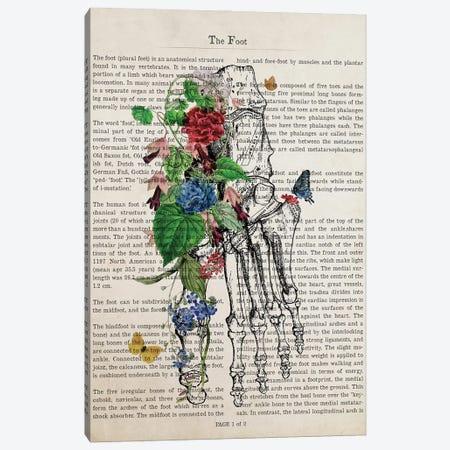 Foot Art Flower Anatomy Print Canvas Print #ADP3229} by Aged Pixel Canvas Art Print