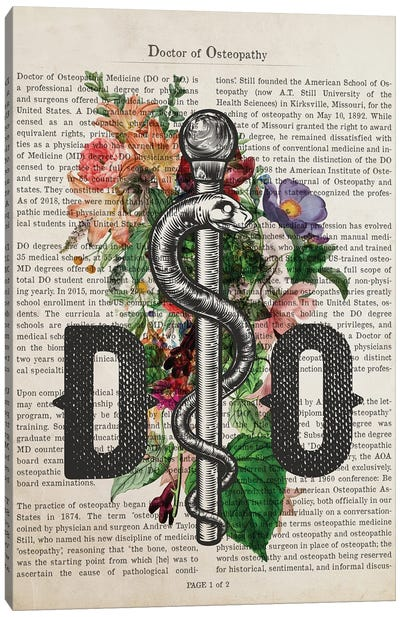 DO, Doctor of Osteopathy Print Canvas Art Print