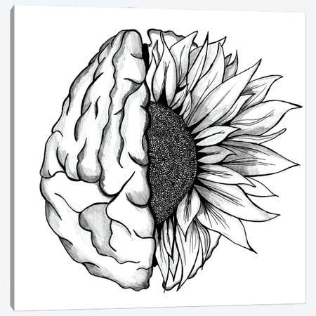Brain Art Flower Anatomy Print, Psychology, Neurologist, Psychologist Canvas Print #ADP3271} by Aged Pixel Canvas Wall Art
