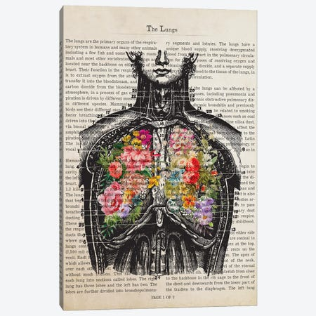 Human Lungs Anatomy Print, Respiratory Therapist And Pulmonologist Canvas Print #ADP3274} by Aged Pixel Canvas Art Print