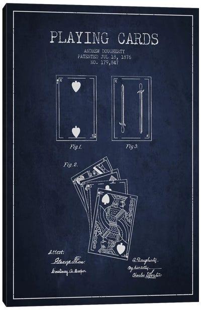 Dougherty Cards Navy Blue Patent Blueprint Canvas Art Print