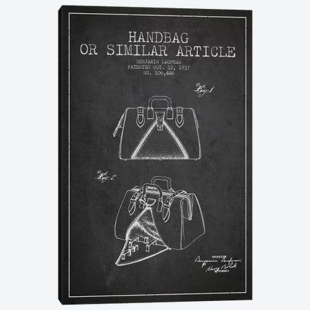 Handbag Similar Article Charcoal Patent Blueprint Canvas Print #ADP348} by Aged Pixel Canvas Artwork