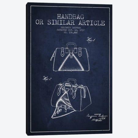 Handbag Similar Article Navy Blue Patent Blueprint Canvas Print #ADP350} by Aged Pixel Canvas Print