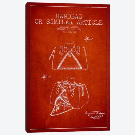 Handbag Similar Article Red Patent Blueprint Canvas Print #ADP351} by Aged Pixel Art Print