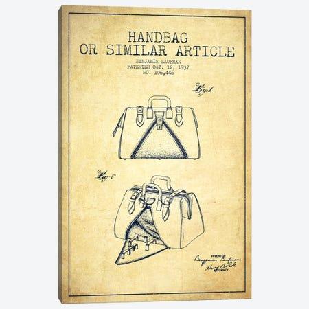 Handbag Similar Article Vintage Patent Blueprint Canvas Print #ADP352} by Aged Pixel Canvas Print