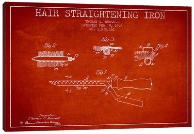 Hair Straightening Iron Red Patent Blueprint Canvas Print #ADP366