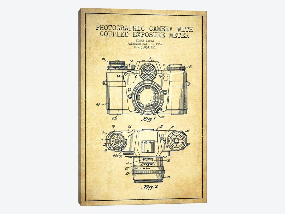 Camera Vintage Patent Blueprint by Aged Pixel 1-piece Canvas Print