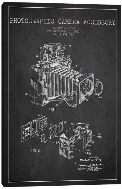 Camera Charcoal Patent Blueprint Canvas Art Print