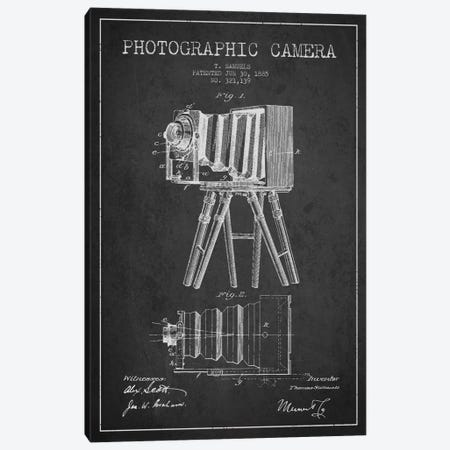 Camera Charcoal Patent Blueprint Canvas Print #ADP426} by Aged Pixel Canvas Artwork