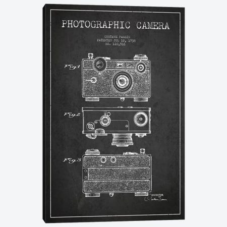 Camera Charcoal Patent Blueprint Canvas Print #ADP431} by Aged Pixel Canvas Art