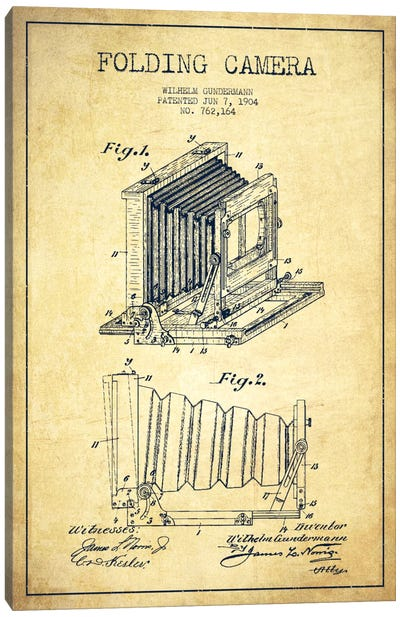 Camera Vintage Patent Blueprint Canvas Print #ADP440