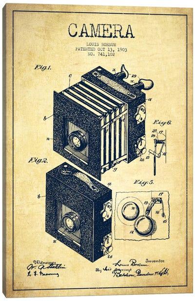 Camera Vintage Patent Blueprint Canvas Art Print