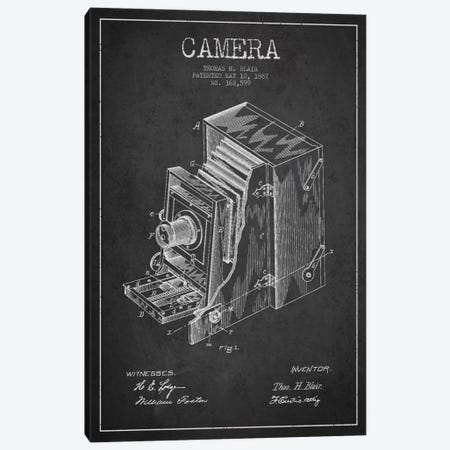 Camera Charcoal Patent Blueprint Canvas Print #ADP446} by Aged Pixel Canvas Artwork