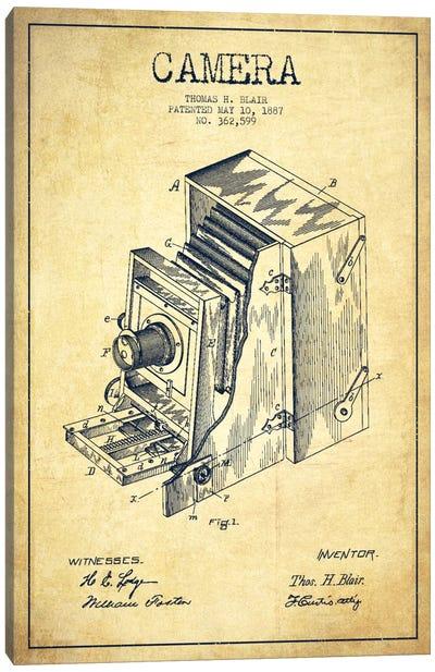 Camera Vintage Patent Blueprint Canvas Print #ADP450