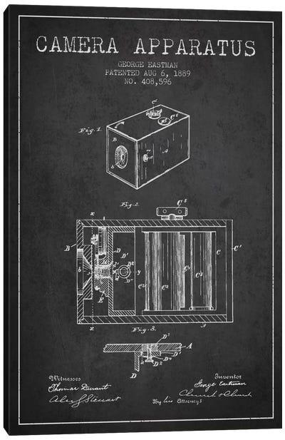 Camera Charcoal Patent Blueprint Canvas Print #ADP496