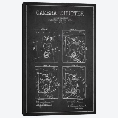 Camera Shutter Charcoal Patent Blueprint Canvas Print #ADP506} by Aged Pixel Canvas Print