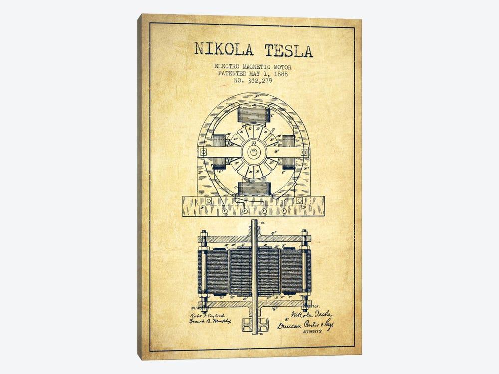 Electro Motor Vintage Patent Blueprint by Aged Pixel 1-piece Art Print