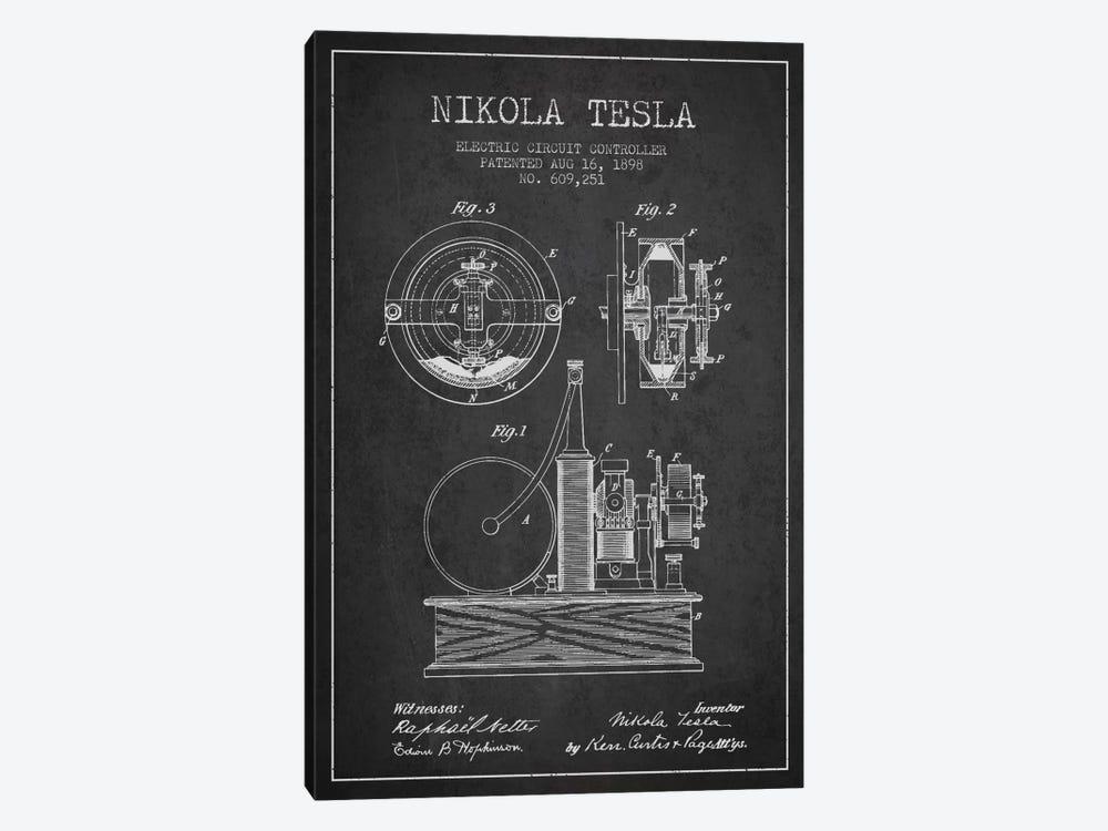 Electric Circuit Charcoal Patent Blueprint by Aged Pixel 1-piece Art Print