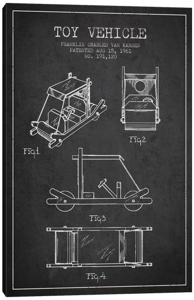 Flinstone Dark Patent Blueprint Canvas Art Print